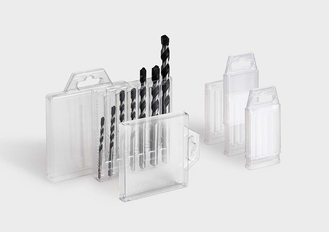 Packaging tube MultiPack: set packaging for drills.