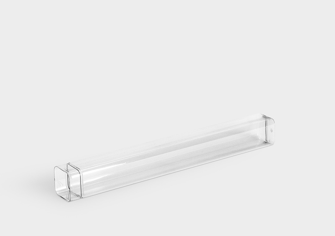 TopPack XLine: the plastic packaging tube for extra long shank tools.